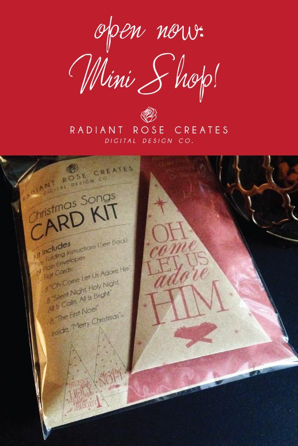 Mini Shop at Radiant Rose Creates